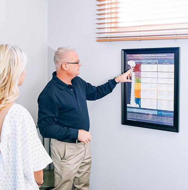 Dr. Surrusco Showing Patient Her CORE Score Results