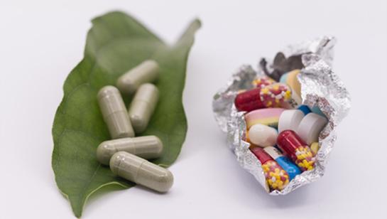 alternative s medicine in leaf next traditional medicine wrapped in tinfoil